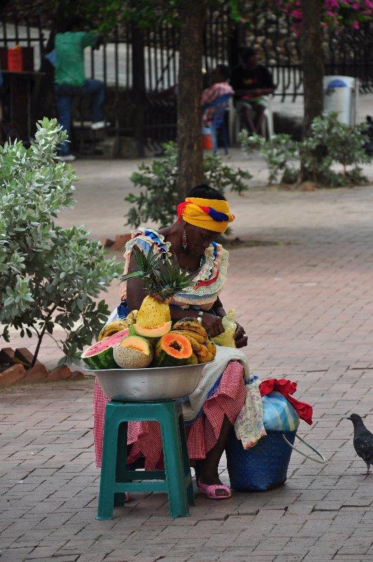 Obstverkäuferin Cartagena