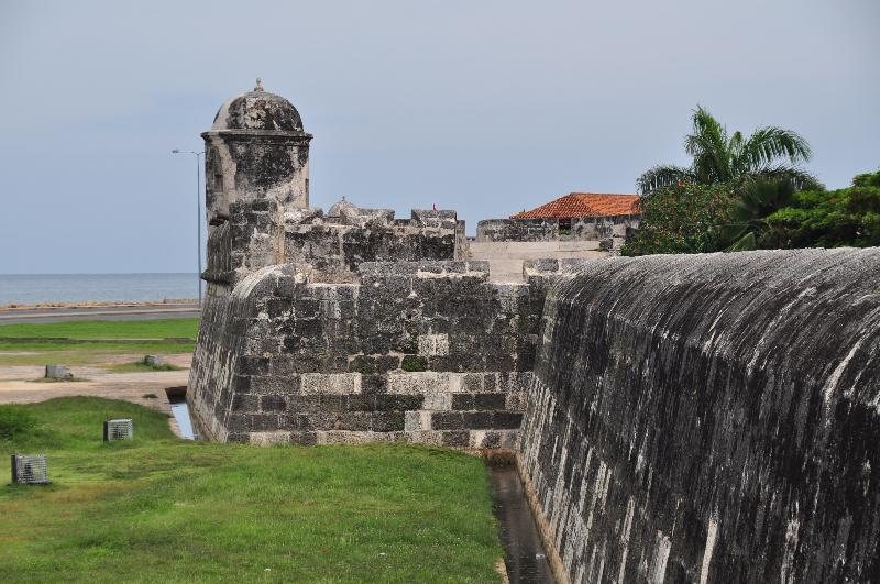 Stadtmauer von Cartagena Kolumbien