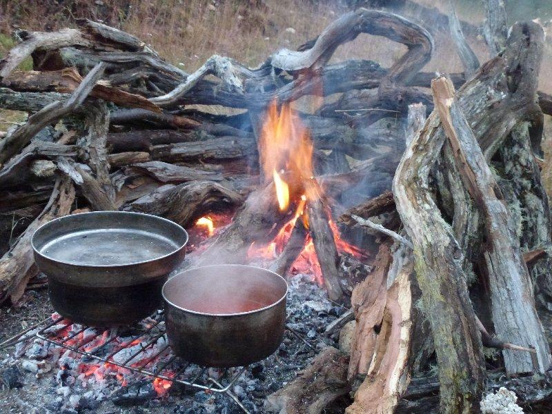 Feuer mit Holztrocknungsvorrichtung