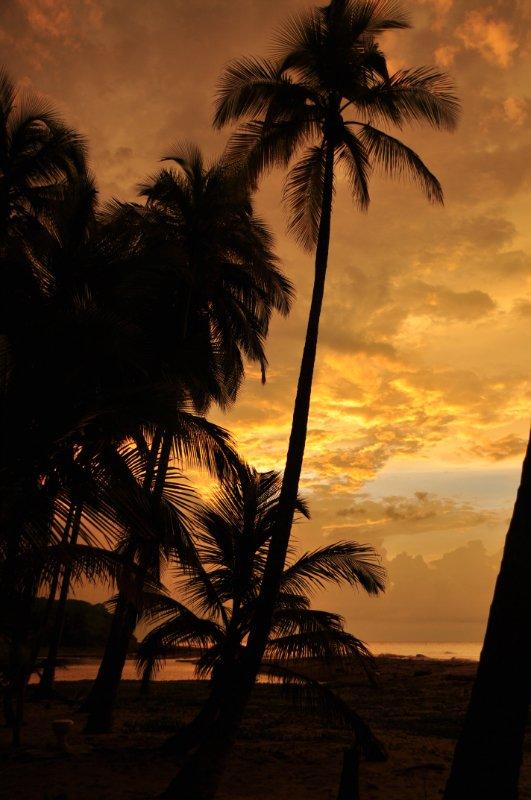 kitschiger Sonnenuntergang