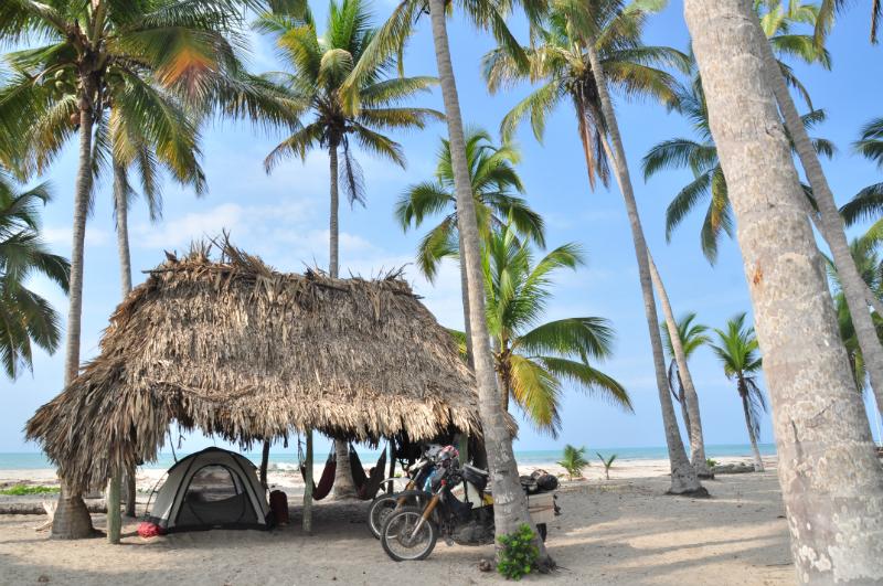 Traumhafter Zeltplatz am Karibikstrand