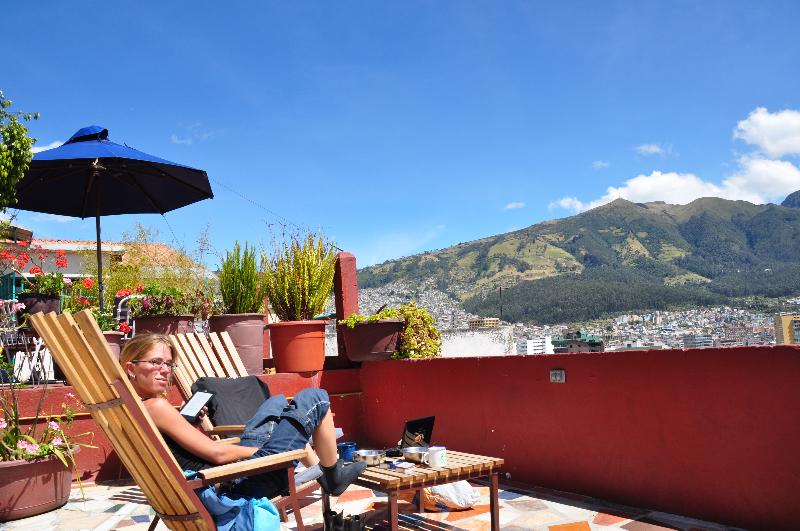 Dachterasse im Casa Bambu in Quito