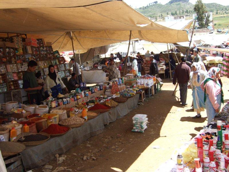 Markttreiben in Marokko