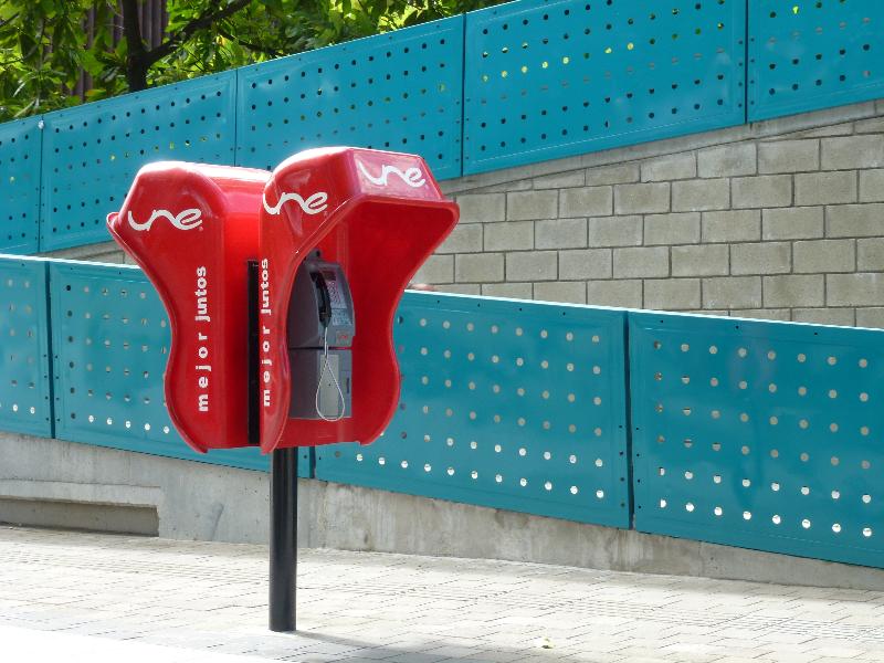 Telefonzelle in Medellin