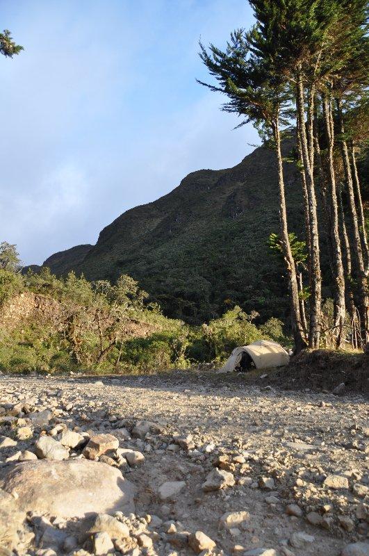 Wild Zelten in Ecuador