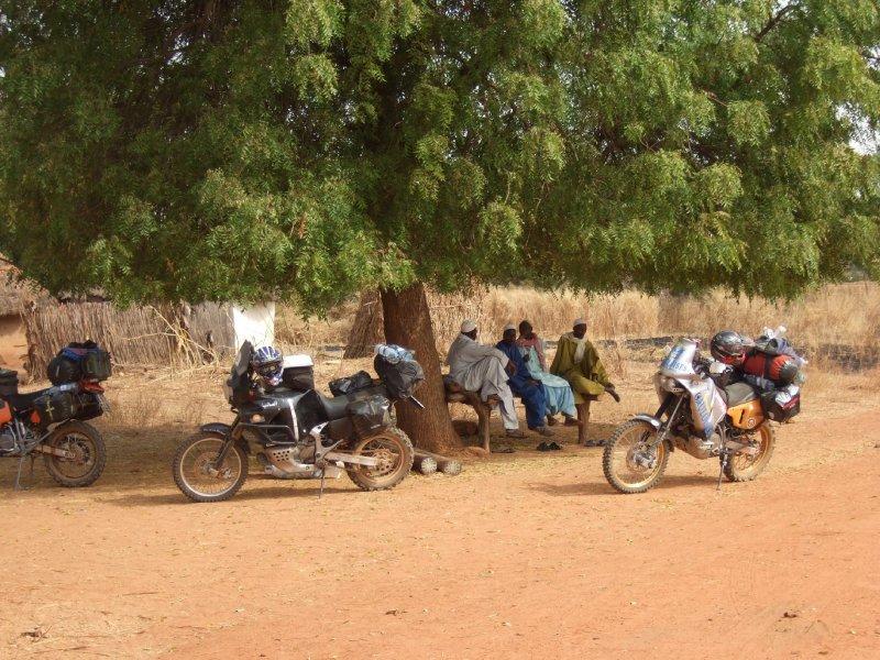 Dorfplatz im Senegal