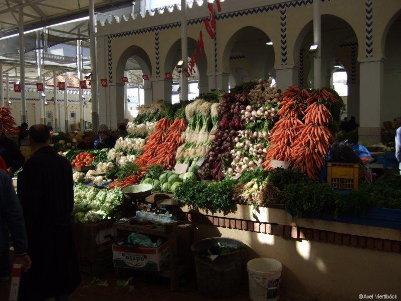 Gemüsemarkt in Tunis