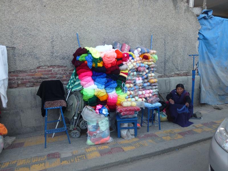 Wollstand in Potosi