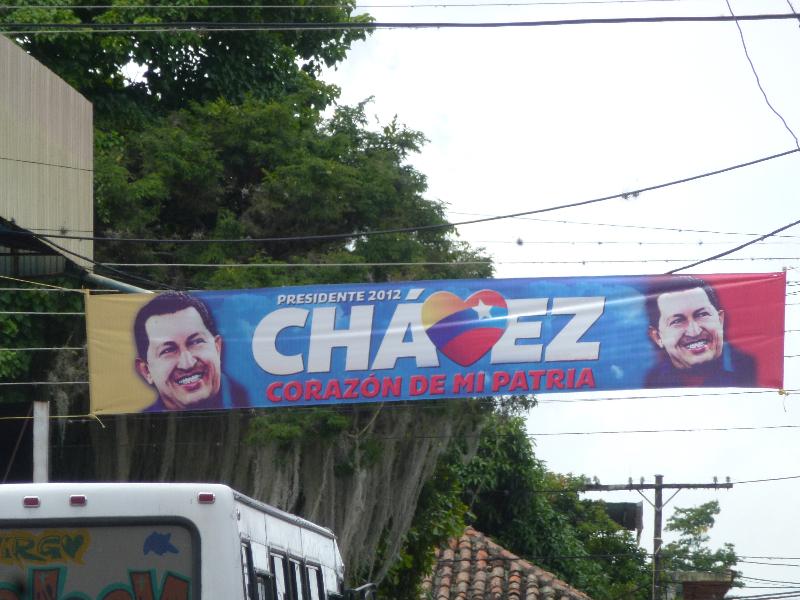 Wahlwerbung Chavez Venezuela