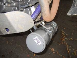 Werkzeugkiste aus Abwasserrohr