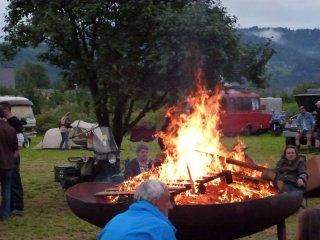Feuerschale auf dem Globetrotter Treffen