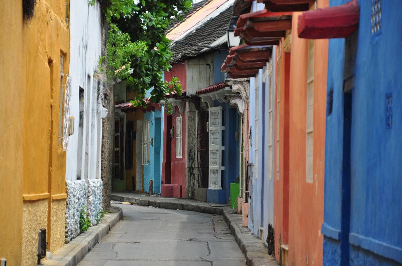 Gasse in Getsemani Cartagena