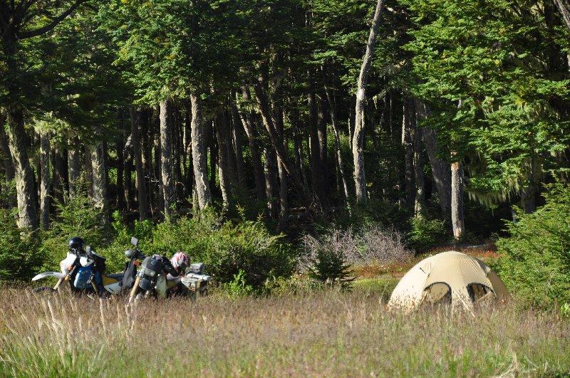 Zelten am Lago Deseado