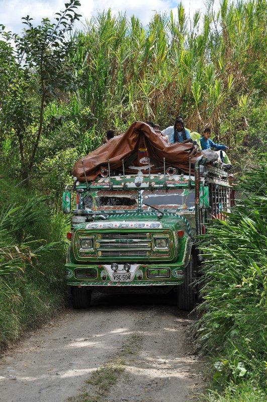 Linienbus in Kolumbien