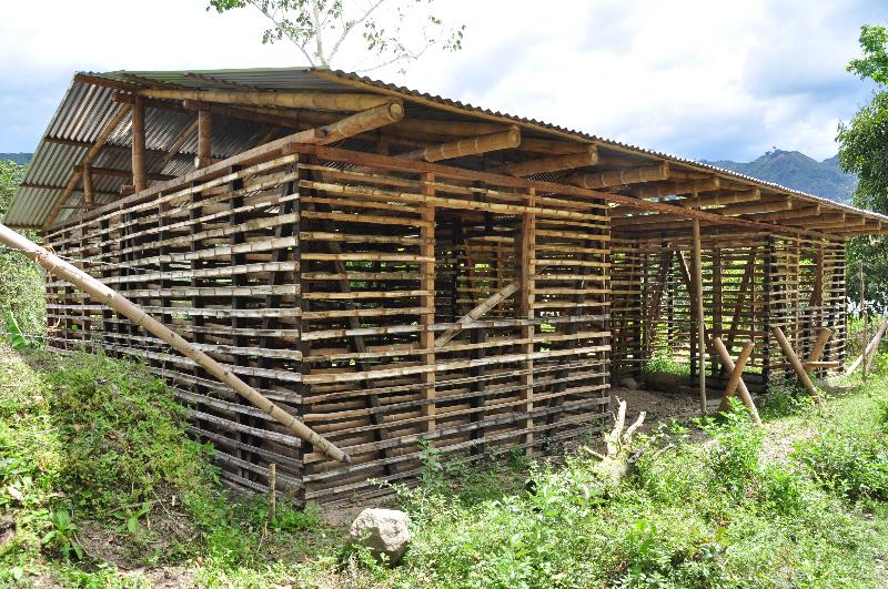 hiesige Bauweise aus Bambus...