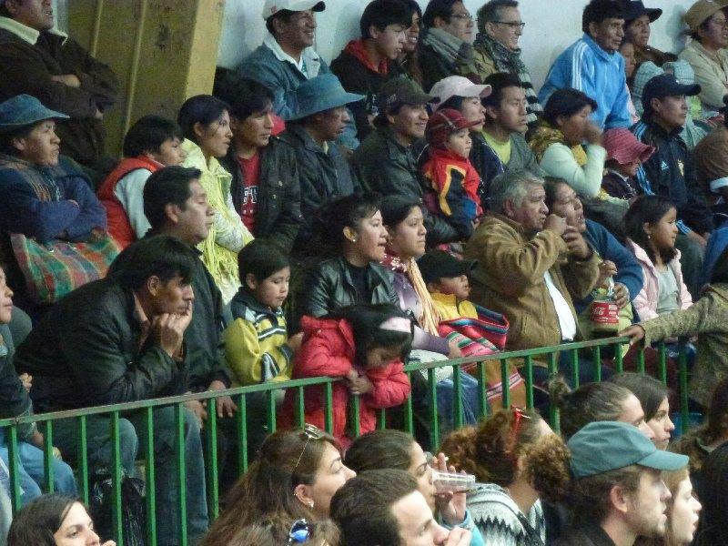 Zuschauer beim Wrestling