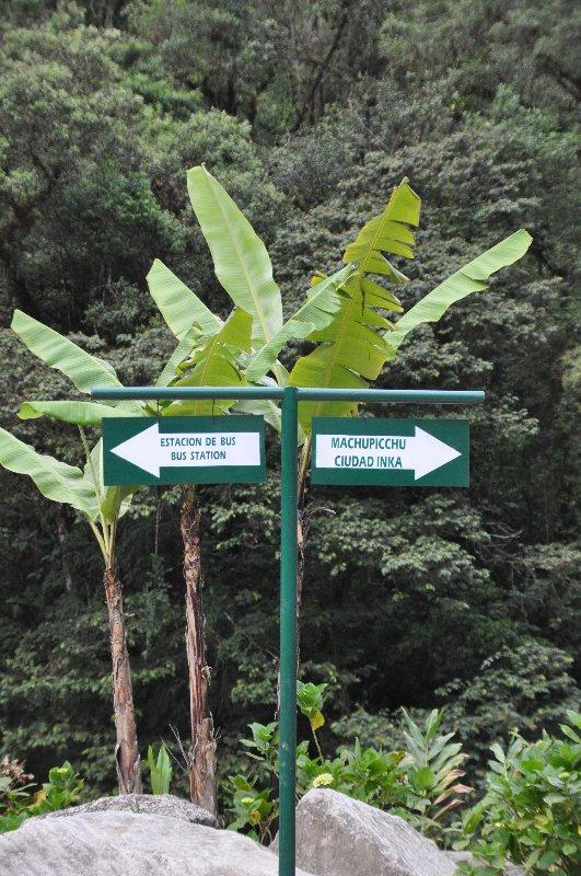 Machu Picchu Wegweiser