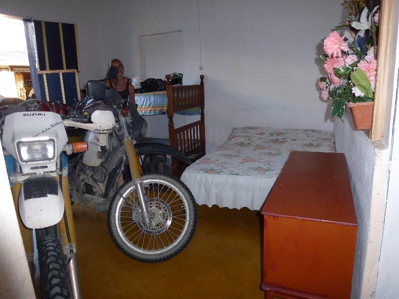 Motorrad Schlafplatz
