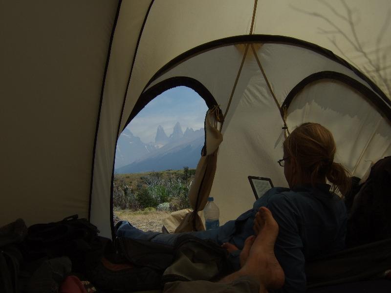 Zelt vor Torres