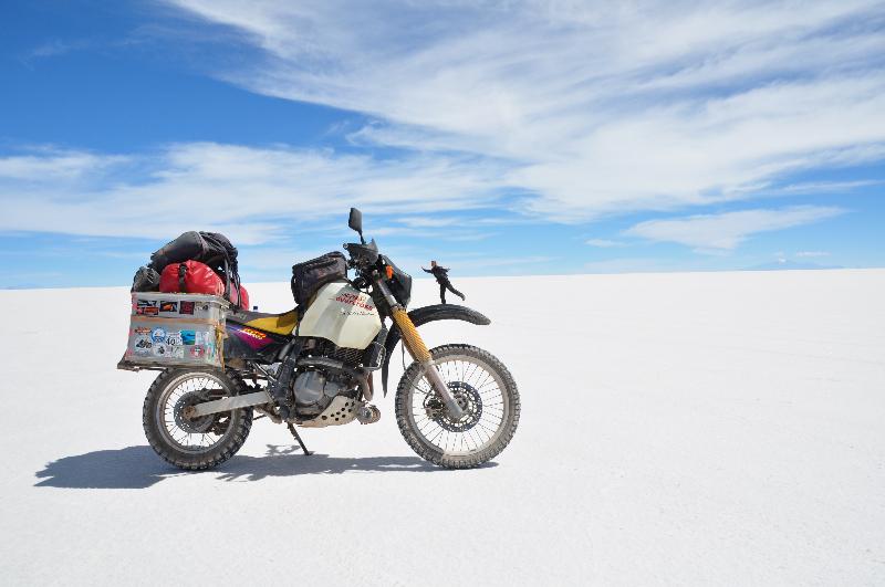 Suse auf Motorrad