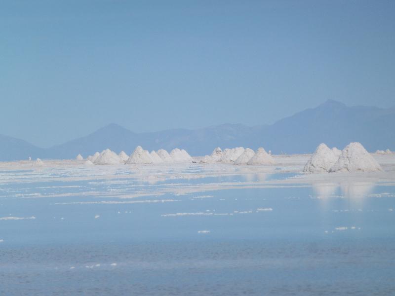 Salzhaufen auf dem Salar