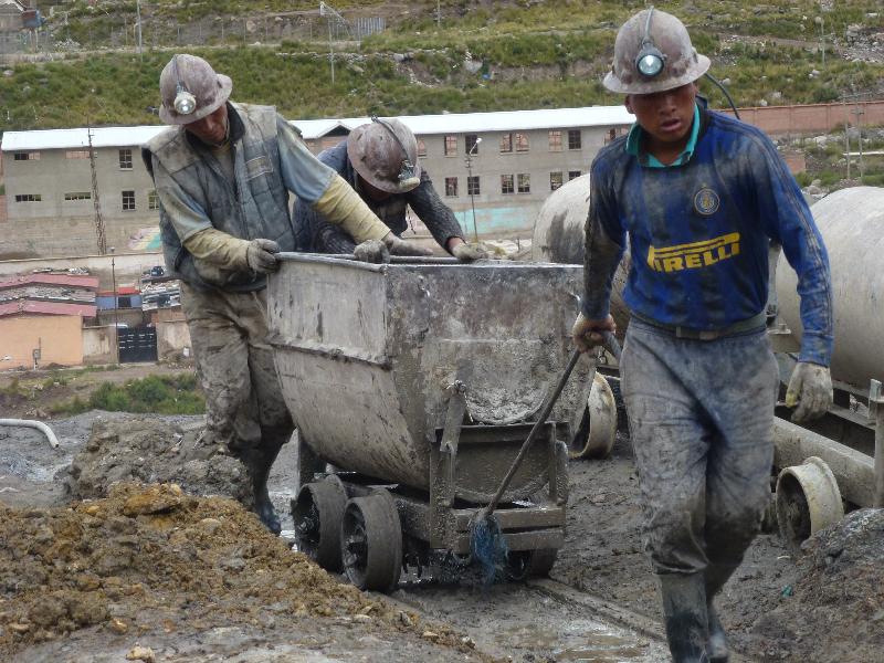 Mienenarbeiter in Potosi