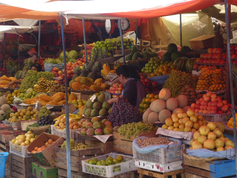 Obststand in Sucre